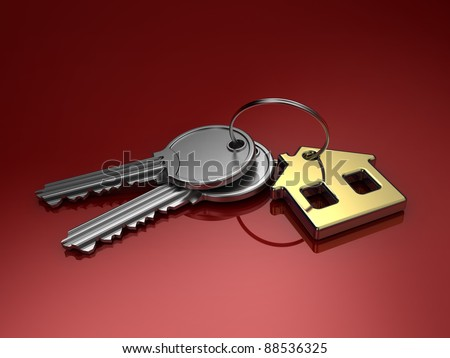 Keys. 3d illustration. - stock photo