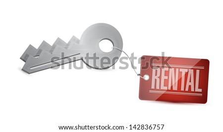 Keys for rental Concept Illustration design over white - stock photo