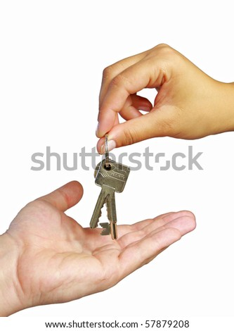 Keys to new house - stock photo