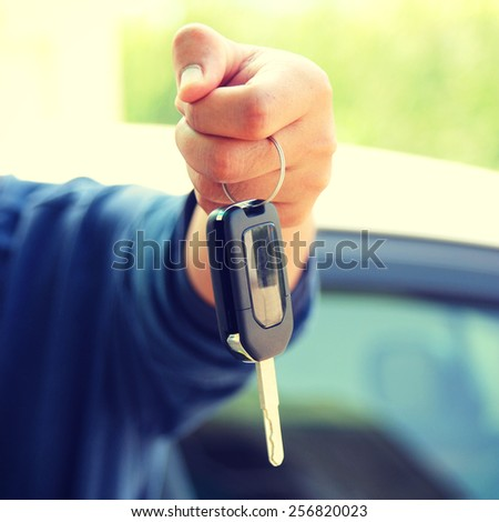 Keys to the car - instagram filter - stock photo
