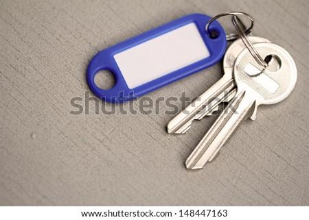 keys with key fob - stock photo