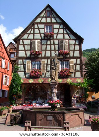 Keysersburg, Alsace typical house - stock photo