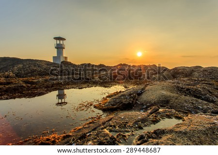 Khao Lak Light Beacon, Phang Nga, Thailand - stock photo