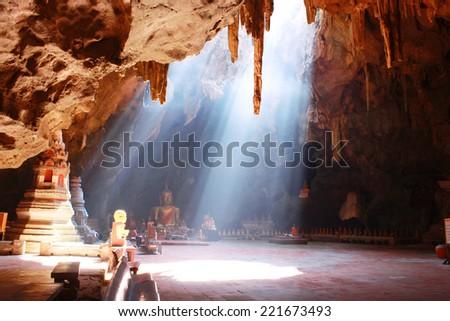 Khao Luang Cave, Phetchaburi Thailand - stock photo