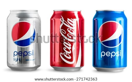 KHERSON, UKRAINE - NOVEMBER 17, 2014: Diet. Coca-Cola is a carbonated soft drink sold in stores, restaurants, and vending machines worldwide. It is produced by The Coca-Cola Company of Atlanta - stock photo
