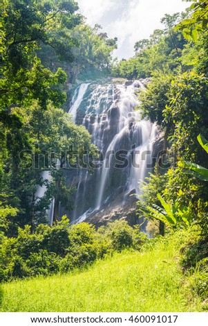 Khlong Lan Waterfall in Kamphaeng Phet Province, Thailand - stock photo