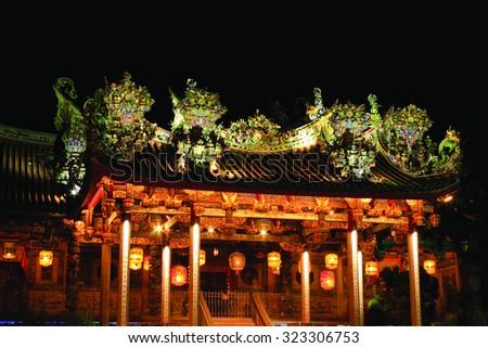 Khoo Kong Si Penang old temple  - stock photo