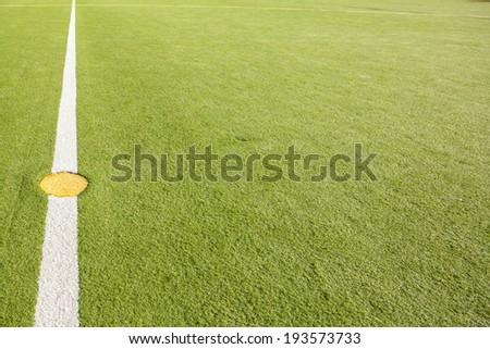 Kick off at Astro Football Pitch - stock photo
