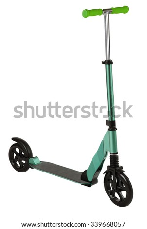 Kick Scooter. Isolated - stock photo