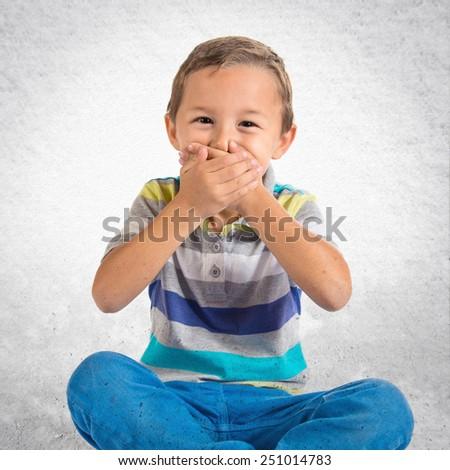 Kid doing surprise gesture - stock photo