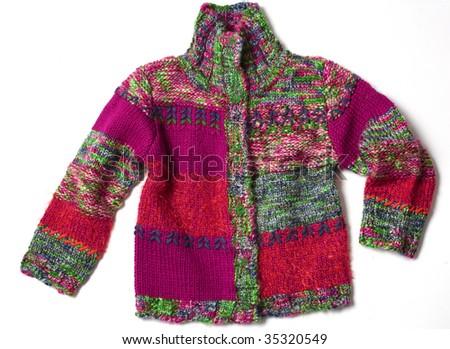kid knit jacket - stock photo