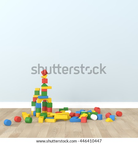 kid room Interior 3d rendering image - stock photo