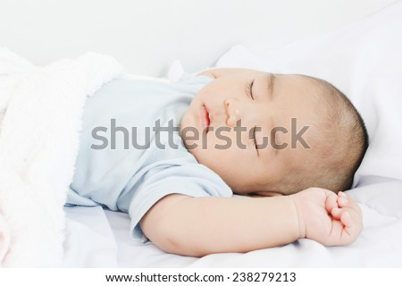 Kid Sleeping - stock photo