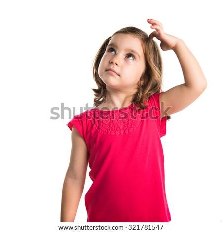 Kid thinking - stock photo