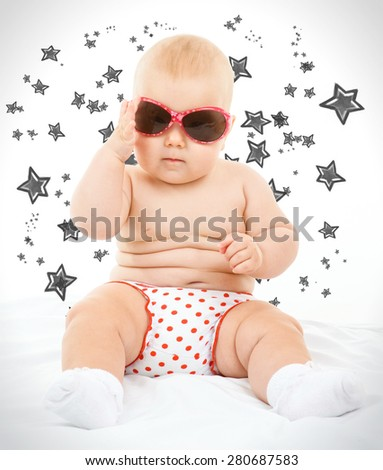 kid with glasses - stock photo