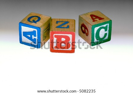 Kids Alphabet blocks - stock photo