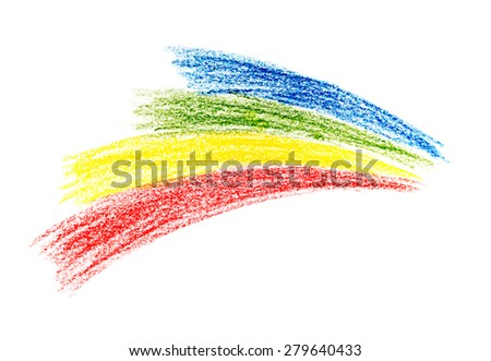 Kids Drawing - stock photo