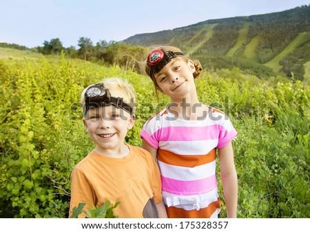 Kids Enjoying a Summer Adventure - stock photo