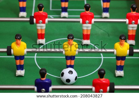 kids foosball - stock photo