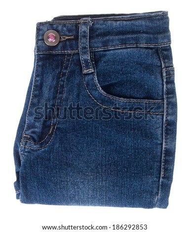 kids jeans isolated on the background. - stock photo