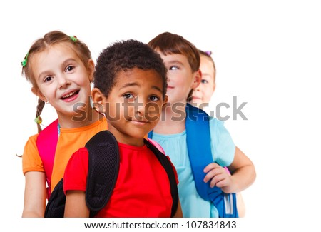 Kids ready back to school - stock photo