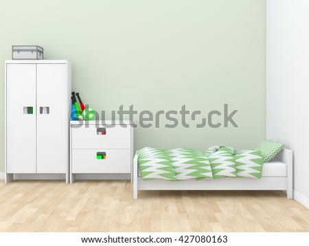 kids room Interior 3d rendering image - stock photo