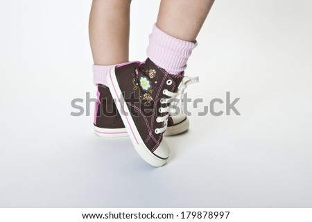 Kids Shoes - stock photo