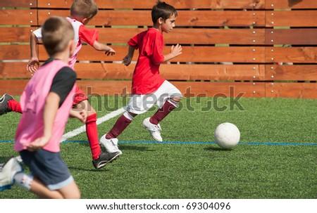 kids soccer - stock photo