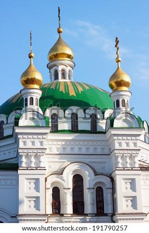 Kiev Pechersk Lavra Church in Kiev, Ukraine - stock photo