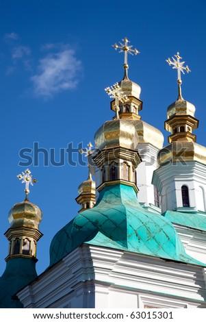 Kiev Pechersk Lavra.Is a historic Orthodox Christian monastery in Kiev, Ukraine - stock photo