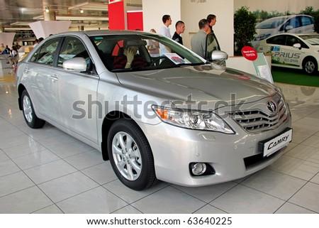 "KIEV - SEPTEMBER 10: Yearly automotive-show ""Capital auto show 2010"". September 10, 2010 in Kiev, Ukraine. Toyota Camry - stock photo"