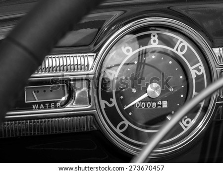 KIEV, UKRAINE - April 25, 2015:  Packard One Twenty 1939 -- The Retro OldCarFest is the biggest retro cars festival held in Kiev, and covers the State Aviation Museum grounds.  - stock photo