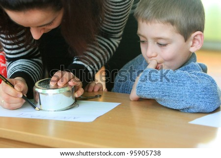 KIEV, UKRAINE - FEBRUARY 21: Unidentified boy at Shelter for Minors on Feb 21, 2008 in Kiev, Ukraine. 65,000 Ukrainian children live in state-run childrens institutions such as orphanages and shelters - stock photo
