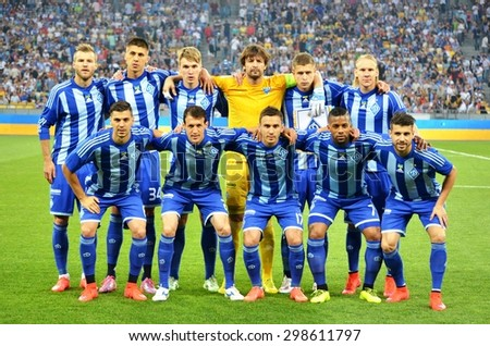 KIEV, UKRAINE - JUN 4: General Team Photo FC Dynamo Kiev during the final match Cup of Ukraine between Shakhtar vs Dynamo Kiev, 4 June 2015, NSC Olympic Stadium, Kiev, Ukraine - stock photo