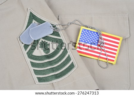 KIEV, UKRAINE - May 9, 2015. US MARINES concept on uniform - stock photo