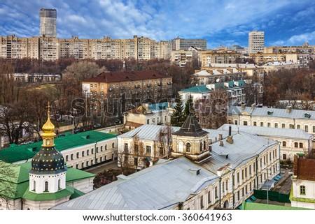 Kiev, Ukraine, panoramic city view - stock photo