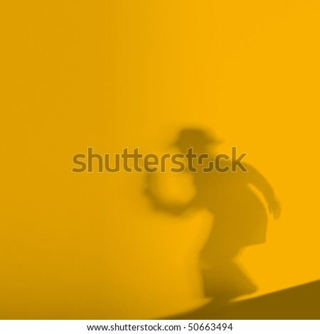 killer shadow - stock photo