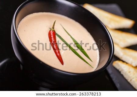 Kim chi soup - stock photo
