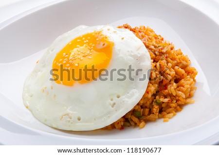 Kimchi fried rice - stock photo