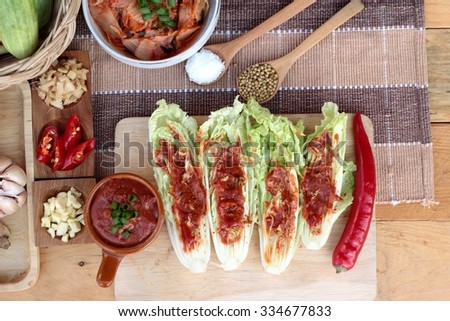 Kimchi of korean food traditional - stock photo