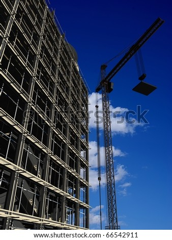 Kind of a building on a background of the sky - stock photo