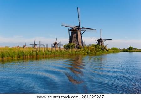 Kinderdijk Holland (Netherlands) - stock photo