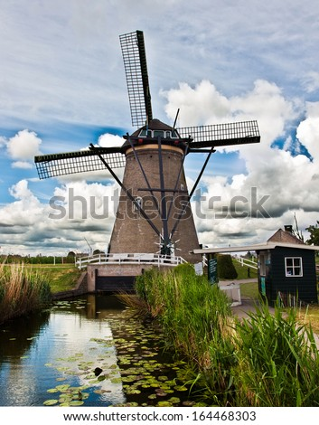 Kinderdijk in Holland - stock photo