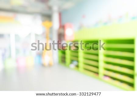 kindergarten class - stock photo