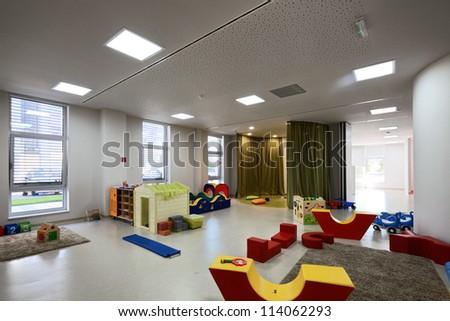 Kindergarten Preschool Classroom - stock photo