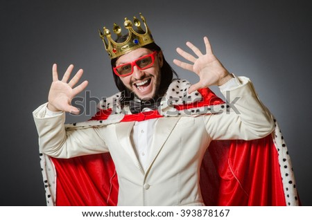 King businessman in royal business concept - stock photo