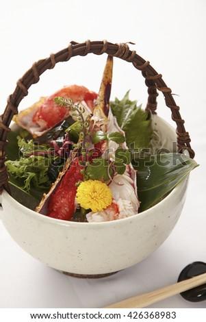 King crab, gourmet Japanese food - stock photo
