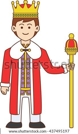 King doodle cartoon doodle - stock photo