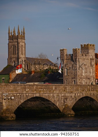 King Johns gate house, Limerick city, Ireland - stock photo