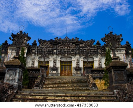 King palace in Vietnam - stock photo